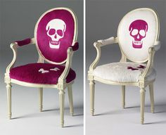 Horror Society: Pretty in Pink   PinkSkullChairs   Posted in: horror news home decor