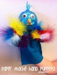Paper Mache Hand puppets -