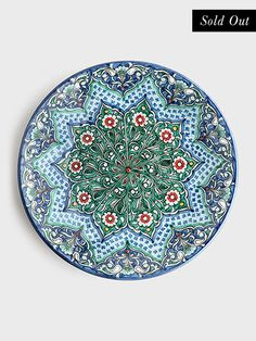 Rishtan Floral Decorative Plate