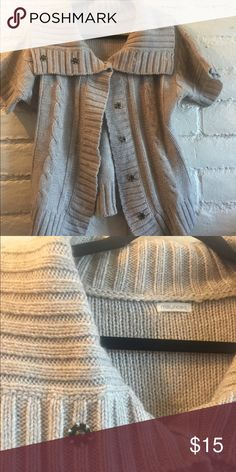 Sweater Button up short sleeve sweater! Maurices Sweaters