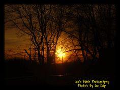 Evening sunset off Station street Belleville Ontario