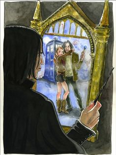 Doctor Potter meme Doctor Who Harry Potter crossover TARDIS Snape Mirror of Erised