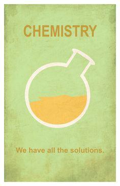Chemistry 11x17 minimalism poster print by EskimoChateau on Etsy