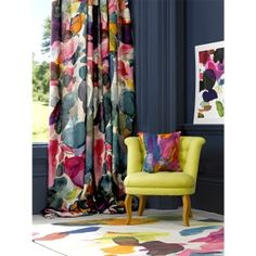 What a beautiful, vibrant collection of colors and prints Big Archie Linen / bluebellgray