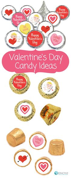 Add these adorable Valentines Day Stickers to a Hershey's Kiss for a simple and easy party favor or table decoration. Can also be used as Valentines Day card envelope seals or Valentines Day party envelope seals for that extra special touch.  #valentinesday