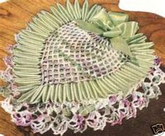 Vintage heart crocheted pin cushion.#Repin By:Pinterest++ for iPad#
