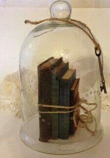VintageGlass Cloche Antique Glass Bell Jar by NatalieFrenchCottage Glass Bell Jar, The Bell Jar, Glass Domes, Bell Jars, Glass Dome Display, Vintage Books, Vintage Decor, 1950s Decor, Vintage Design