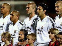 Ronaldo Nazario Da Lima Roberto Carlos David Beckham Luis Figo y Zinedine Zidane. Los Galácticos.