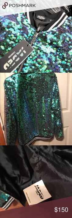 Jaded London mermaid bomber (Taylor swift jacket) Worn 2x only , same jacket Taylor Swift wore on the 1989 world tour Jackets & Coats