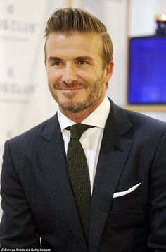 David Beckham steps out at Haig Club whiskey event in Madrid | Daily Mail Online