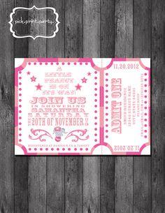 Carnival Baby Shower Invitation - Little Peanut - DIY - Printable. $12.00, via Etsy.