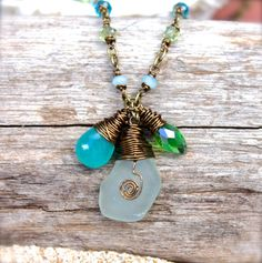 Sea Glass Jewelry from Hawaii  Beach Boho by MermaidTearsDesigns, $34.00