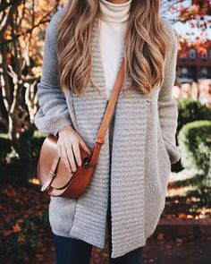 Gray sweater and turtleneck