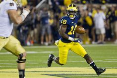 Michigan's Blake Countess officially back after 2-interception performance vs. Notre Dame; this one in the first half.  Sep 7, 2013. Michigan Football(1).jpg