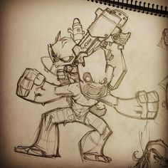 Thought you guys might like to see my initial pencil sketch for the Rocket & Groot piece I shared yesterday. Nothing but pencils and paper here.