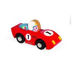 Janod - Racerbil Speed, rød (fås også i turkis :) )