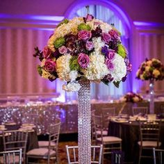 Tall centerpiece #purplecenterpiece