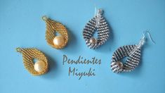 DIY - Pendientes miyuki -Earrings miyuki -Miyuki बालियां أقراط ميوكي EarringMiyuki Miyuki Earrings - diy and joy Seed Bead Jewelry, Bead Jewellery, Seed Bead Earrings, Beaded Earrings, Earrings Handmade, Seed Beads, Hoop Earrings, Beaded Bracelets, Diy Jewelry
