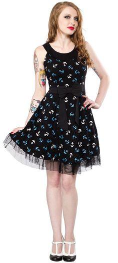 Sourpuss Dancing Skeletons Scoop Neck Dress Rockabilly Vintage Pinup