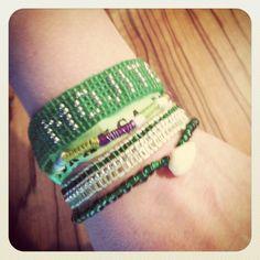 """Manchette de bracelets brésiliens """"mojito party"""""""