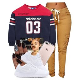 """"""""""" by young-tiller ❤ liked on Polyvore featuring adidas Originals and NIKE"""