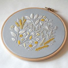 Flowers Hand embroidery Floral hoop embroidery от SvitanokStore