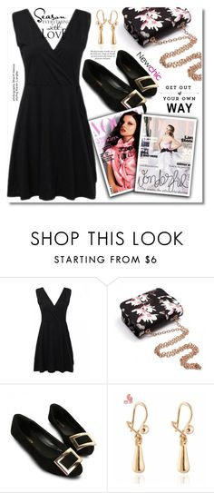 """""""Black Dress"""" by sans-moderation ❤ liked on Polyvore featuring newchic"""