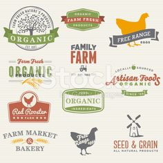 Organic Farm Labels royalty-free stock vector art