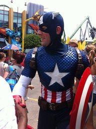 Captain America at Universal's Islands of Adventure!