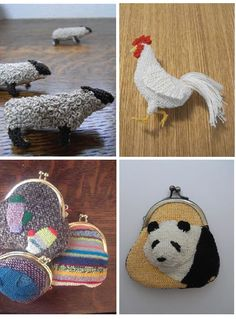 mini needlework pieces by Japanese artist Hipota