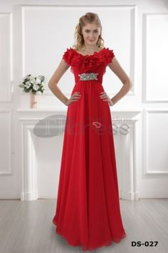 Dresses for Wedding Guests-The red shoulder dress 2012 red dress ground gown A line