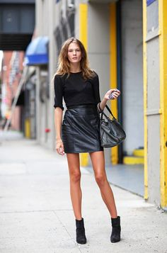 Leather Skirt Looks Inspired by New York Fashion Week Street Style