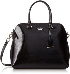 $348.00 kate spade new york Cedar Street Patent Margot Top Handle Bag, Black, One Size: Handbags: Amazon.com