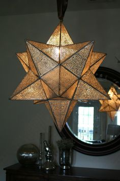 My Moravian Star chandelier/pendant. Handmade in Northern Egypt and gorgeous!