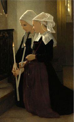 """薄明かりの絵画 on Twitter: """"W.A.ブーグロー『サンタンヌ・ドーレーの祈り』1869年、個人蔵 https://t.co/FldH0OuFwG"""""""
