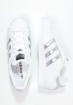 adidas Originals SUPERSTAR - Sneakers laag - white/silver metallic/core black - Zalando.nl