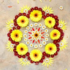 22 Quick and Easy Rangoli Ideas for Diwali 2018 you would love to copy from Rangoli Designs Flower, Colorful Rangoli Designs, Rangoli Ideas, Rangoli Designs Diwali, Diwali Rangoli, Flower Rangoli, Beautiful Rangoli Designs, Kolam Designs, Flower Designs