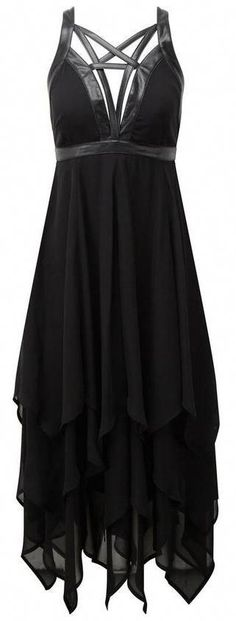 75b97c4497ff3 black chiffon gown with  pentacle  collar ♥  LatestMensWear  GothicWear  Gothic Fashion