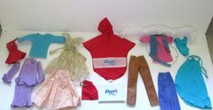 Vintage 1970s Kenner Darci Doll Clothing Lot 19 Pieces Outfits  #Kenner #ClothingAccessories