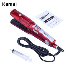 US $21.82 Hair Straightener Ceramic Vapor Steam Flat Iron Vapor Plate Wet/Dry Led Ferro Fast Heating Iron Steamer Pro Styling Tool S4243. Aliexpress product