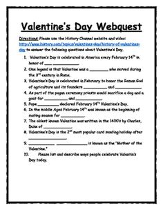 think like a historian with a quick and easy valentines day webquest utilize the history - Halloween Web Quest