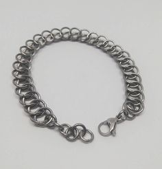 Check out this item in my Etsy shop https://www.etsy.com/listing/585180004/stainless-steel-chainmail-bracelet