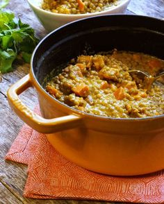 Easy Lentil, Sweet Potato & Coconut Curry. A perfect meatless meal that will satisfy everyone!