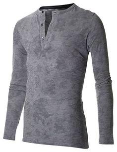 FLATSEVEN Mens Distressed Long Sleeve 3 Button Henley Neck Tee Shirt (T330) Grey, L FLATSEVEN http://www.amazon.com/dp/B00RI2T0RM/ref=cm_sw_r_pi_dp_nbYYub19V8C85 #CASUAL #TEE #FLATSEVEN #Henley