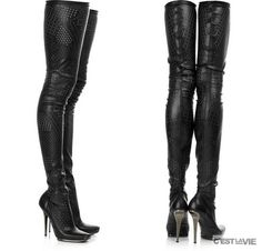 If I had the funds, I would so buy these Stella McCartney thigh high boots.  These boots are so SEXY!