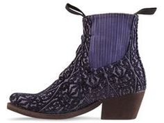 vegan shoes . Jeffrey Campbell Yuma Fab in Blue Tapestry at Solestruck.com