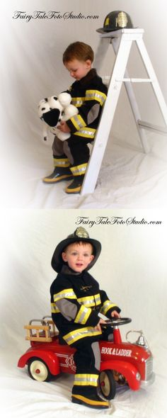 Fireman Theme | Fire Fighter Boy | Sister | Fire Truck | Firetruck with Dalmatian Puppy Portrait Poses | Photo Idea | Photography | Cute Kid Pic | Baby Pics | Posing Ideas | Kids | Children | Child | ~Bountiful Utah Photographer close to Salt Lake City | Ogden | Provo UT~