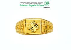Totaram Jewelers: Buy 22 karat Gold jewelry & Diamond jewellery from India: Mens Gold Rings