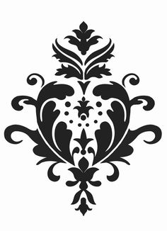 Damask stencil, reusable wall stencil, Acanthus Damask Size XL/A1 53 x 65 cm (21 x 26 inches)