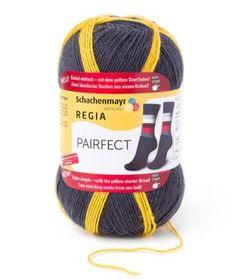 De bol die voor u meedenkt: een gele draad die aan het begin en in het midden de bol opduikt, laat het begin van iedere sok zien. Zo ontstaan er twee geheel identieke sokken. Deze top-inovatie is met EASY START uitgerust en bovendien knoopvrij.  1 bol maakt 2 sokken  Samenstelling: 75% Scheerwol, 25% Polyamide Gewicht: ca. 100 g Looplengte: ca. 420 m Stekenverhouding: 30 steken x 42 naalden = 10 x 10 cm Naalddikte: 2 – 3 mm